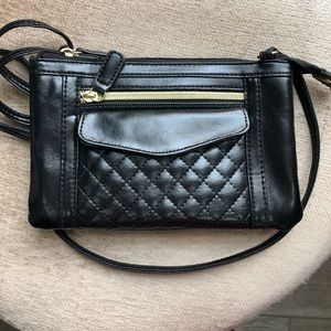 Crossbody Purse Black with gold accents. Like new
